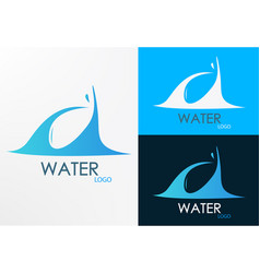 logo water wave vector image