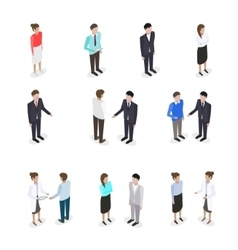 Set of talking people vector image vector image