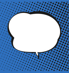 speech bubble on blue retro background vector image vector image