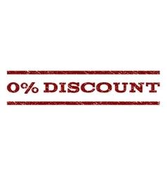 0 Percent Discount Watermark Stamp vector image