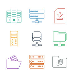 9 archive icons vector