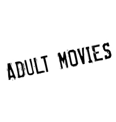 Adult Movies rubber stamp vector