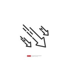 Arrow decrease icon symbol economy stretching vector