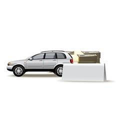 Auto blank vector image