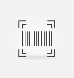 Barcode linear icon or design element vector