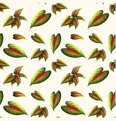 Beautiful leaf seamless pattern vector