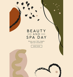 Beauty and spa day banner abstract contemporary vector