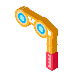 Binoculars isometric icon vector