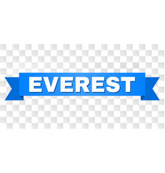 Blue stripe with everest text vector