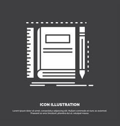 book notebook notepad pocket sketching icon glyph vector image