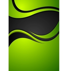 Bright green corporate wavy background vector