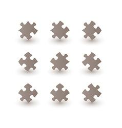 Brown puzzle pieces vector