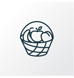 bucket of fruit icon line symbol premium quality vector image