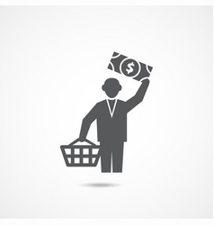 Buyer icon on white vector