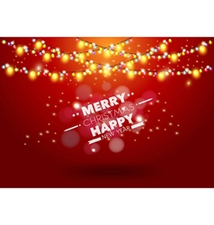 Christmas light background vector