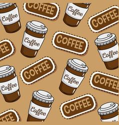 coffee shop stickers pop art vector image