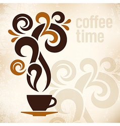 Coffee Time Vintage vector
