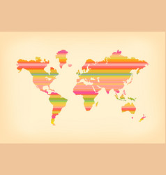 Color stripe old world map concept vector