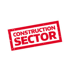 construction sector rubber stamp vector image