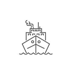 cruise ship related line icon vector image