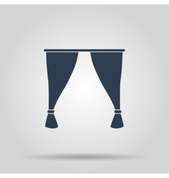 Curtain icon vector image