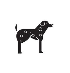 dalmatian black concept icon dalmatia vector image
