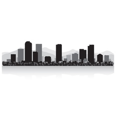 Denver USA city skyline silhouette vector image