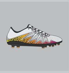 design sneakers football shoes vector image