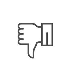 dislike line outline modern icon vector image