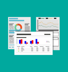 Financial reports and documents vector