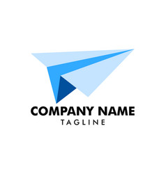 Flight paper plane logo icon vector