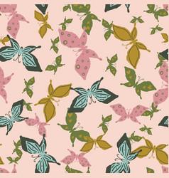 flock butterflies seamless pattern vector image