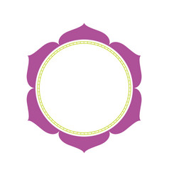 floral ornament circle decoration abstract frame vector image
