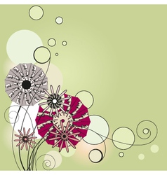 Flowers the vignette vector