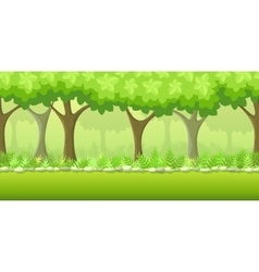 Forest game background vector