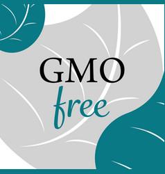 gmo free banner vector image