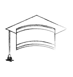 graduation hat isolated icon vector image
