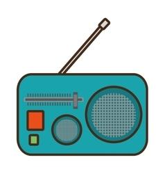 green radio classic antenna vector image