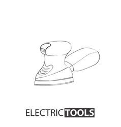 hand drawn delta sanding machine vector image