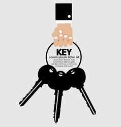 Hand Holding Key Bunch vector image vector image