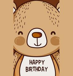 happy birthday to you bear cartoon vector image