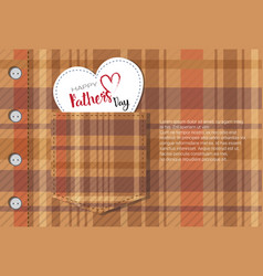 Happy father day family holiday retro greeting vector