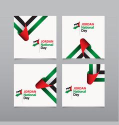 Happy jordan independence day celebration vector