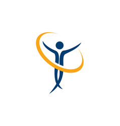 health people logo and symbols success health vector image