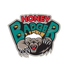 Honey Badger Mascot Front vector image