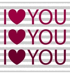 I love you with heart shirt design vector