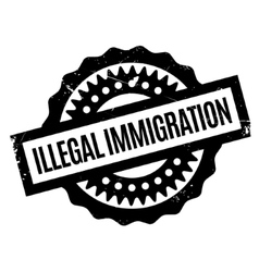 Illegal Immigration rubber stamp vector
