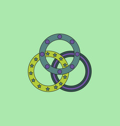 Juggling rings vector