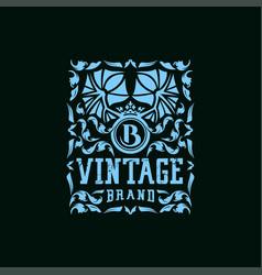 Letter b vintage logo design vector