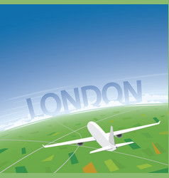London flight destination vector